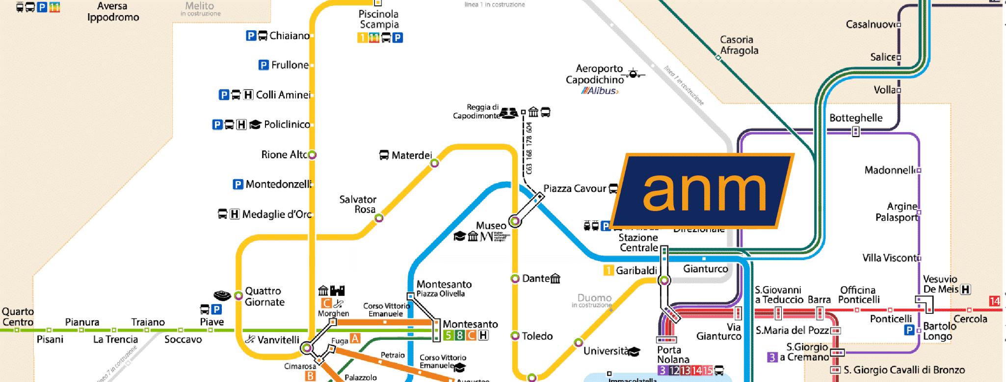 Avvisi ANM giorno 22/09 per la metro e funicolare